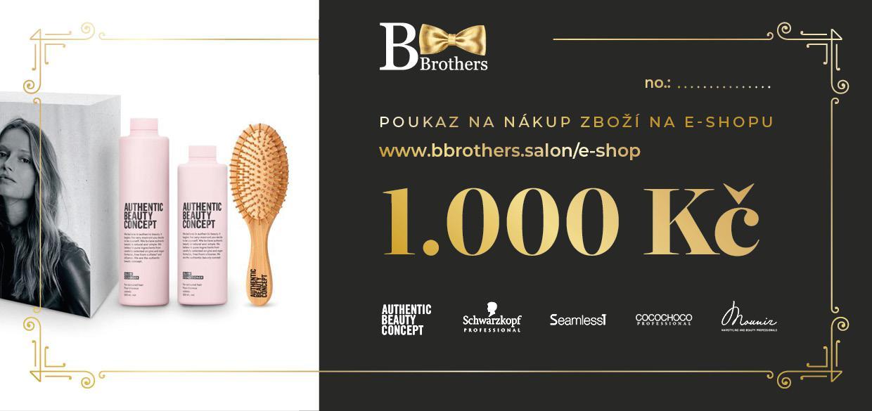 B Brothers poukaz 1000 Kč