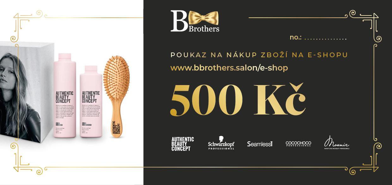 B Brothers poukaz 500 Kč
